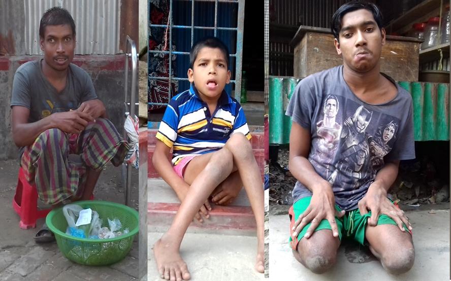 নবাবগঞ্জে ৩ শারিরীক প্রতিবন্ধীর মানবেতর জীবন যাপন, ভাগ্যে জুটছে না ভাত