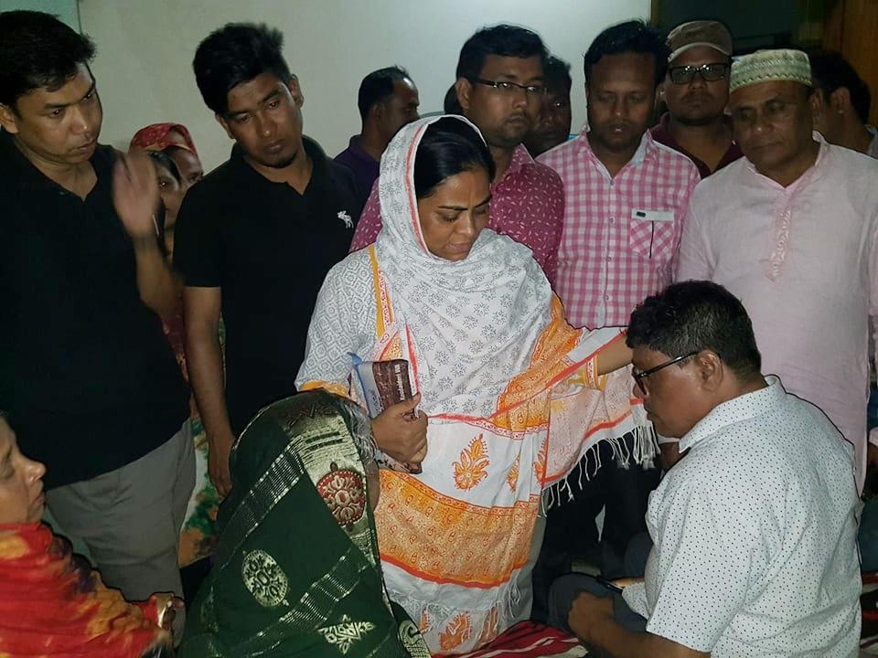 নেপালে বিমান বিধ্বস্তে স্বজন হারা পরিবারকে শান্তনা দিতে ছুটে এলেন ইউএনও